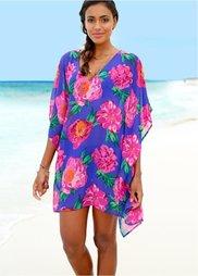 Пляжная туника (синий/ярко-розовый) Bonprix