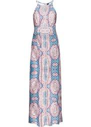 Макси-платье (оранжевый с рисунком) Bonprix