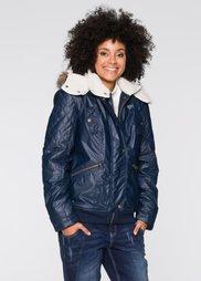 Зимняя куртка на плюшевой подкладке (темно-синий) Bonprix