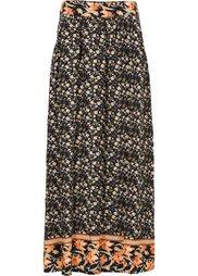 Макси-юбка с карманами (нежно-голубой с рисунком) Bonprix