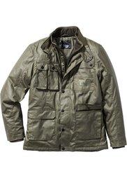 Куртка Regular Fit с вощеным покрытием (черный) Bonprix