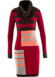 Вязаное платье (темно-коричневый/натуральный м) Bonprix