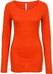 Пуловер в резинку (цвет белой шерсти) Bonprix