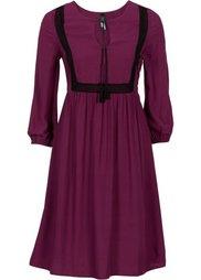 Платье в стиле бохо (черный в цветочек) Bonprix