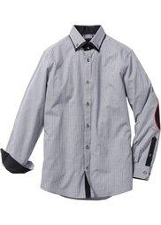 Деловая рубашка Regular Fit (синий/белый в клетку) Bonprix