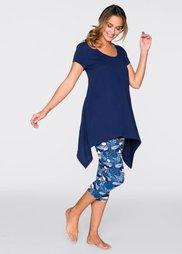 Пижама-капри (ночная синь с рисунком) Bonprix