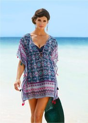 Пляжная туника (бирюзовый) Bonprix