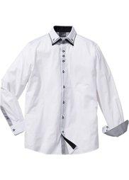 Деловая рубашка Regular Fit (черный) Bonprix