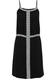 Платье с бордюрами (цвет белой шерсти) Bonprix