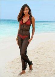 Пляжный комбинезон (черный) Bonprix