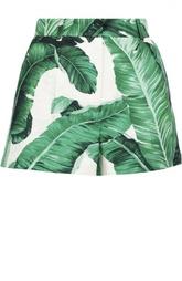 Мини-шорты с цветочным принтом и завышенной талией Dolce & Gabbana