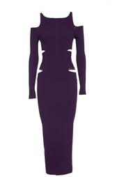 Вязаное платье-футляр с открытыми плечами Roberto Cavalli