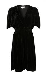 Бархатное приталенное платье с V-образным вырезом Isabel Marant Etoile