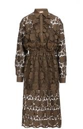 Кружевное платье-рубашка с оборкой No. 21
