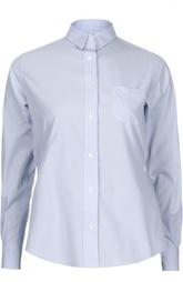 Блуза асимметричного кроя с ремнем и накладным карманом Sacai