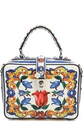 Кожаная сумка Rosaria с принтом Dolce & Gabbana