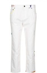 Укороченные брюки прямого кроя с контрастной отделкой Mira Mikati