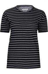Льняная футболка в полоску с удлиненным рукавом Isabel Marant Etoile