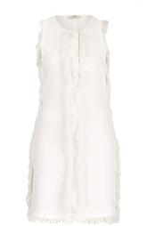 Мини-платье прямого кроя с бахромой Edun