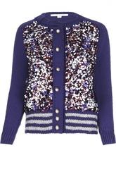 Кардиган фактурной вязки с пайетками и декоративными пуговицами Marc Jacobs