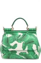 Средняя сумка Sicily из кожи с принтом Dolce & Gabbana