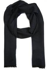 Шерстяной шарф с узором зигзаг Z Zegna