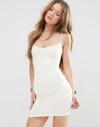 Бесшовное платье‑сорочка Free People Bella - Слоновая кость