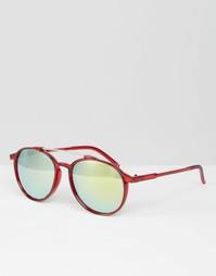 Круглые солнцезащитные очки с зеркальными линзами Trip - Красный