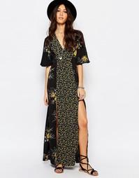 Платье макси с цветочным принтом Band Of Gypsies - Мульти