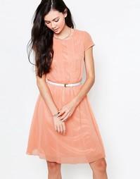 Платье миди со складками спереди Jasmine - Peach