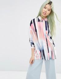 Oversize-рубашка в абстрактную полоску ASOS - Мульти