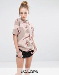 Свободная футболка бойфренда Reclaimed Vintage - Розовый