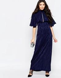 Платье макси с рукавами-кимоно и выжженным принтом Liquorish