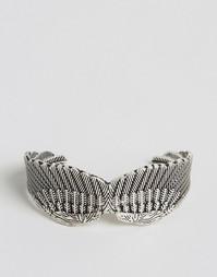 Серебристый браслет с крыльями ASOS - Серебряный