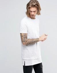 Фактурная oversize-футболка с необработанной горловиной ASOS