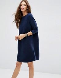 Свободное фактурное платье ASOS - Темно-синий