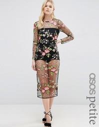 Облегающее платье с боди ASOS PETITE - Мульти