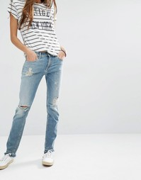 Рваные прямые джинсы с необработанными кромками Hilfiger Denim Naomi
