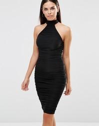 Облегающее платье миди AX Paris - Черный