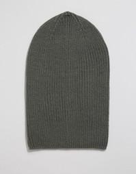 Мешковатая серая шапка-бини ASOS - Серый