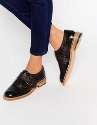 Кожаные туфли на плоской подошве ASOS MAJESTY - Мульти