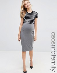Трикотажная юбка-карандаш миди для беременных ASOS Maternity