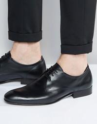 Кожаные туфли-оксфорды Base London Business - Черный