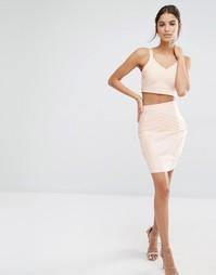 Бандажная юбка-карандаш Missguided - Peach
