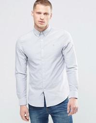 Оксфордская светло-серая рубашка узкого кроя Farah - Светло-серый