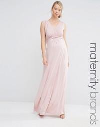 Платье макси для беременных без рукавов с узлом Bluebelle Maternity