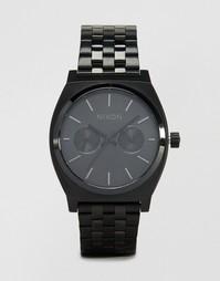 Черные наручные часы Nixon Time Teller Deluxe - Черный