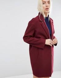 Пальто-кокон ASOS Ultimate - Ягодный