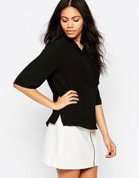 Рубашка прямого кроя с карманами Neon Rose - Черный