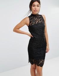 Кружевное платье Forever Unique Gillian - Черный